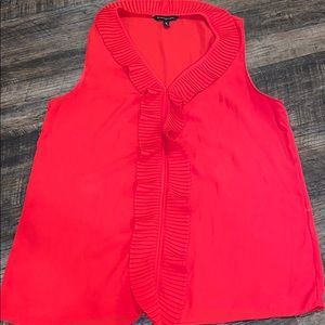 Banana Republic red ruffle top size M